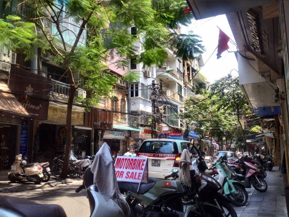 Aussicht auf Strasse in Hanoi